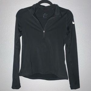 Nike women's Dri-Fit Black Half Zip- L